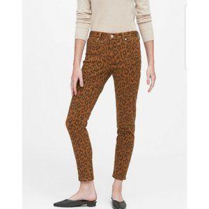 NWT Banana Republic Caramel Leopard Skinny Jeans